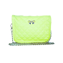 Yellow Casual Bow Shoulder/ Cross Body Bag