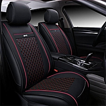 2pcs PU Leather Needlework Car Seat Covers Front Cushion Cover For All Car Black+Red