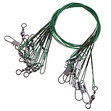 40pcs 15cm 20cm 25cm 30cm Stainless Steel Anti-bite Fishing Lead Line Swivel Rope Wire With B-type Pin And 8-letter Ring For Ocean / River Fishing
