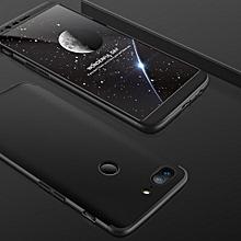 GKK For OnePlus  5T Three-paragraph 360 Degree Full Coverage PC Case Back Cover(Black)