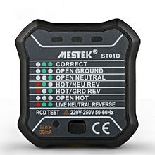 MESTEK ST01D/ST01E Socket Tester RCD Test 220V-250V Leakage Switch Tester EU/UK Plug