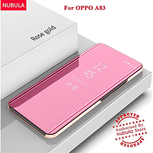 new arrival 1832e 66b72 For OPPO A83 Flip Case,360 Degree Luxury Mirror Clamshell Hard Shell Case  Smart Clear View Flip Cover For OPPO A83 186188 Color-2