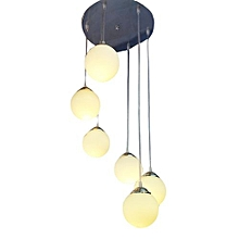 Contemporary 6 pendant staircase light fixture