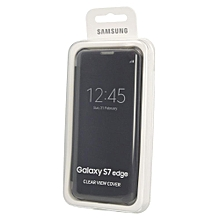 Galaxy S7 Edge Clear View Cover Flip - Black