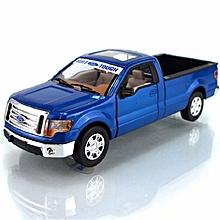 MSZ 1:32 Ford 88410F150 Pickup Truck Metal Model Light Alloy Wind Up Car Model Toy -Blue