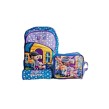 3-in-1 School Bag - Doc McStuffins Cartoon Print