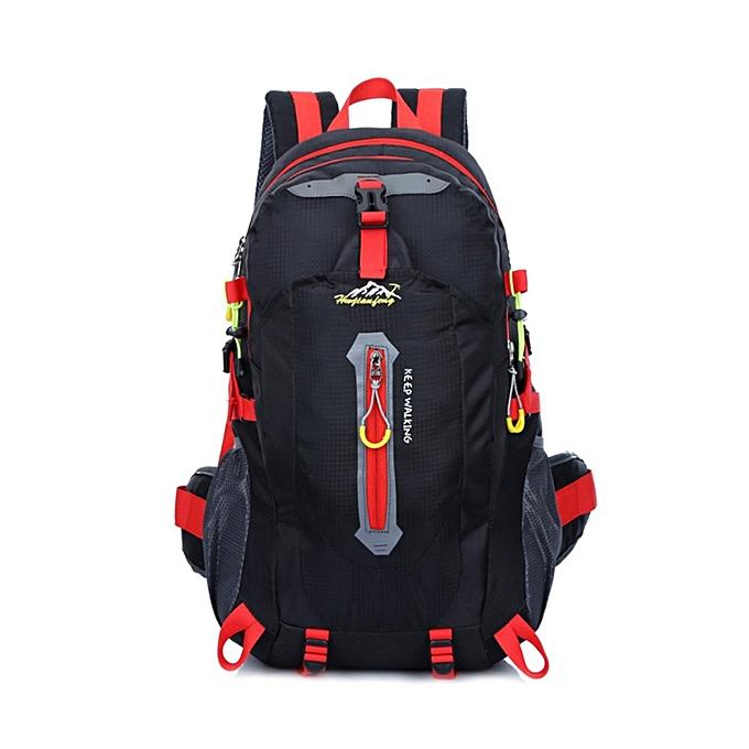 e49b609b3570 1503 KEEP WALKING 40L Mountaineering Backpack Water-resistant Nylon Bag -  Black