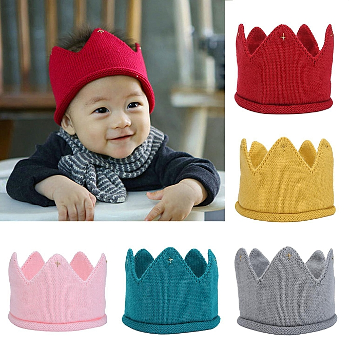 Buy Louis will Mix Color Baby Boys Girls Knit Crown Headband Hat For ...