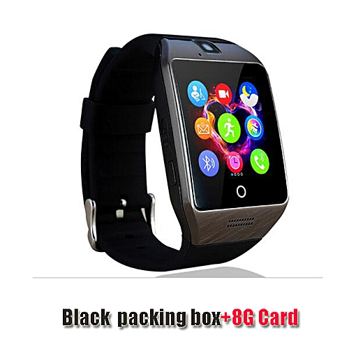 5707eb50f Generic Bluetooth Smart Watch Smartwatch Q18 Android Phone Call Relogio 2G  GSM SIM TF Card Camera for iPhone Samsung HUAWEI PK GT08 A1( black 8G card)