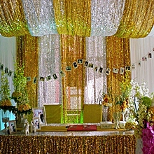 3X5FT Gold Sequin Photo Backdrop Wedding Photo Booth Photography Background