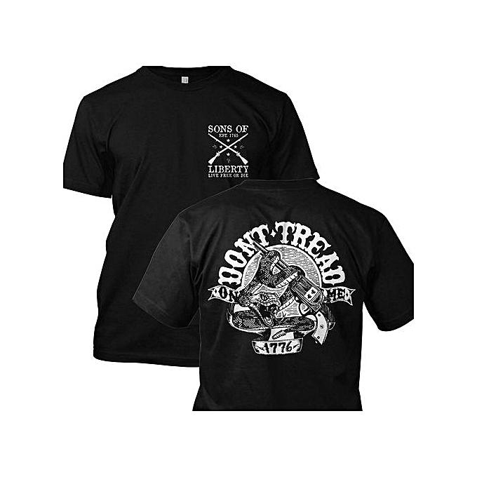 3b745ca2 DIY Cotton Funny Tee Shirts Don't Tread On Me: 1776 Xxx Short Sleeve  T-Shirt Size: S M L XL XXL XXXL