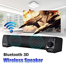 LP-09 Wireless Bluetooth 3D Surround Theater Soundbar Stereo Bass Speaker Tablet