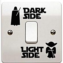 Bestnewcom Home of Dark Light Side Switch Sticker
