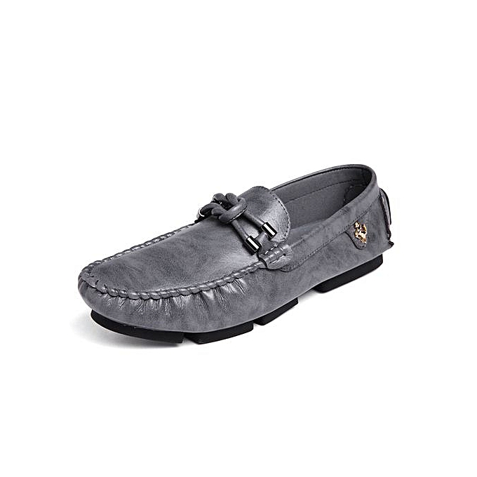 60cf7834003 Fashion Mens Casual Loafers Driving Shoes Grey   Best Price