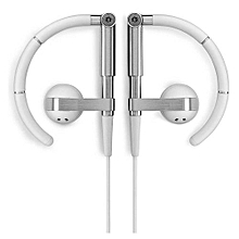 Headphone, Shuua B&O A8 Earhook Metal HiFi stereo earphones Sports headphones(Silver)