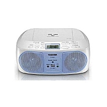 TY-CRU12 -CD/MP3/FM  Portable Radio - Remote - USB - Blue& White