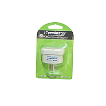 TL 18 - Travel Adaptor with Shutter & indicator - 3 USA Flat Pins to Universal Blister Pack