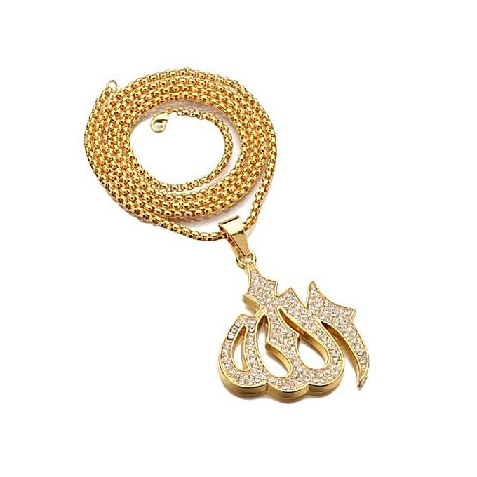 Buy Fashion Tanson Islamic Allah Pendant Necklace For Women Silver