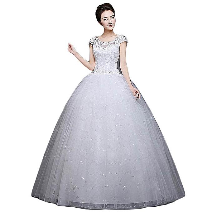 3d4df1bda5 GeneAfrica Wedding Dress Girls Wedding Gowns - White @ Best Price ...