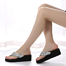 c0375168ea19c Xiuxingzi Women  039 s Summer Sequins Anti-Slip Sandals Slipper Indoor   amp  Outdoor