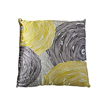 Printed Cushion - Yellow & Grey