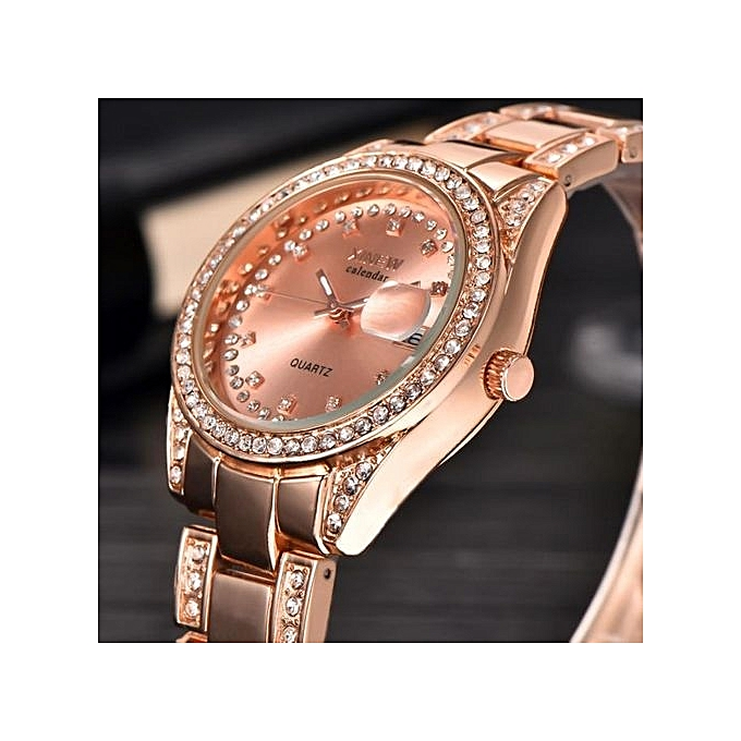 aa63c5228f8b ... Fashion XINEW Ladies Women Girl Unisex Stainless Steel Date Quartz  Wrist Watch ...