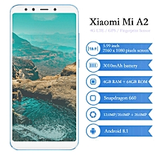 """Mi A2 4G 5.99"""" 4GB RAM 64GB ROM Android 8.1 Snapdragon 660 Octa Core 2.2GHz - BLUE"""