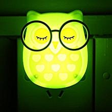 Portable LED Nightlight Auto Control Sensor Lamp Kids Bedroom Wall Light Green