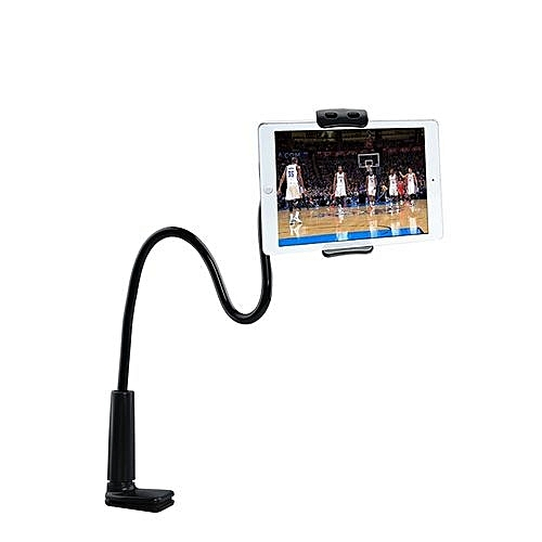 Flexible Desktop Phone Stand Holder Lazy Bed Tablet Rack For IPad Tablet - Black (110cm)