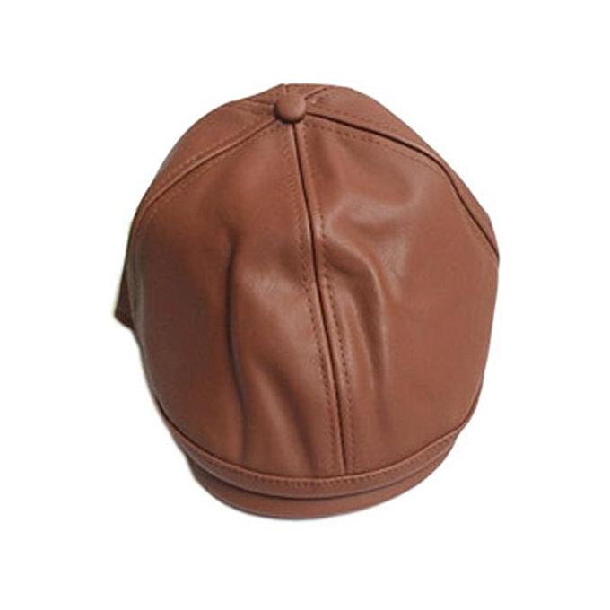281b5b152d6c9 Hiaojbk Store Kids Boy Girl Leather Beret Cap Vintage Peaked Hat Newsboy Hat  F-As
