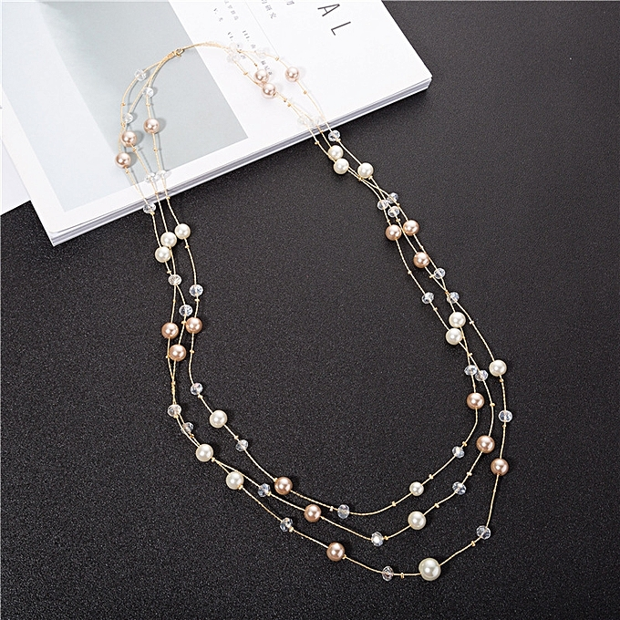 be0c15e27d Fashion Is new style of upscale the chain imitating pearl sweater grow a  style autumn winter 3 F necklace female 100 take Han Ban s fashion  accessories