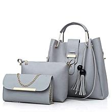 Grey 3 in 1 ladies Handbag