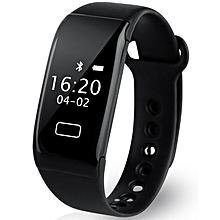 K18S - Smart Bracelet Heart Rate IP65 Reminder For Android IOS - Black