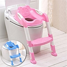 af335738d90 Kids Toilet Potty Trainer Seat Step Up Training Stool Chair Toddler With  Ladder
