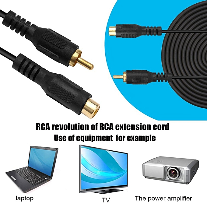 Buy Generic OR Professional RCA Male To Female M/F Audio Composite ...