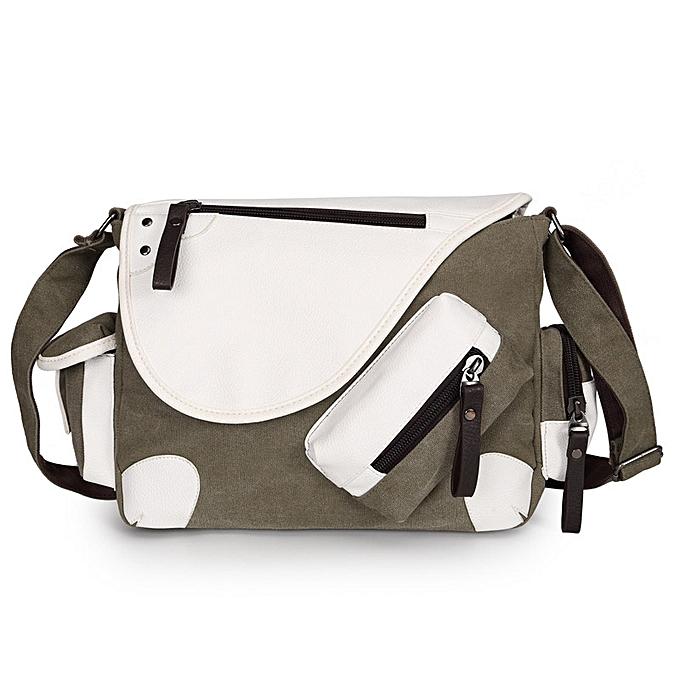 6952752b1 Men Brief Brand Canvas Multi-Pocket Crossbody Bags Casual Messenger Bag  Large Capacity Travel Package