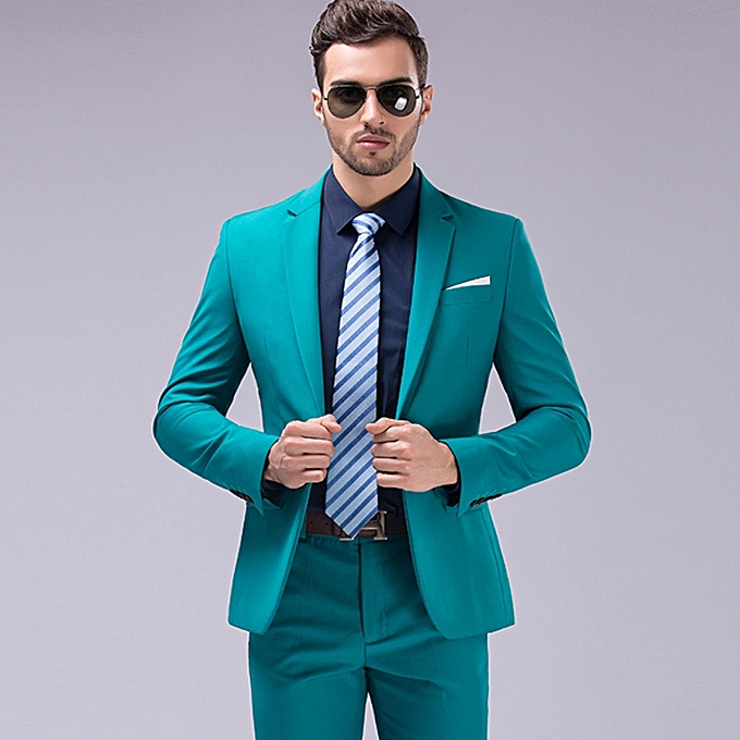 66ca6eb2fe7f Man High Quality 2-piece Bridegroom Suits Solid Color Slim Fit Large Size  Professional Suit
