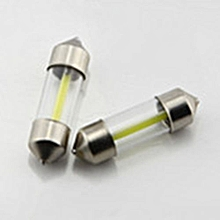 12V DC 0.5W LED Car Bulb COB Light Lamp Pointed Light 31mm/36mm/39mm/41mm