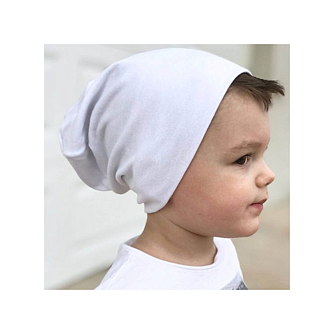 641387e06 Toddler Kids Baby Boy Girl Infant Cotton Soft Hip Hop Hat Cap Beanie -White