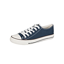 Blue Men's Laced Canvas Shoes