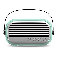 NR - 3000 Portable Wireless Bluetooth Stereo Speaker Mini Player-AQUAMARINE