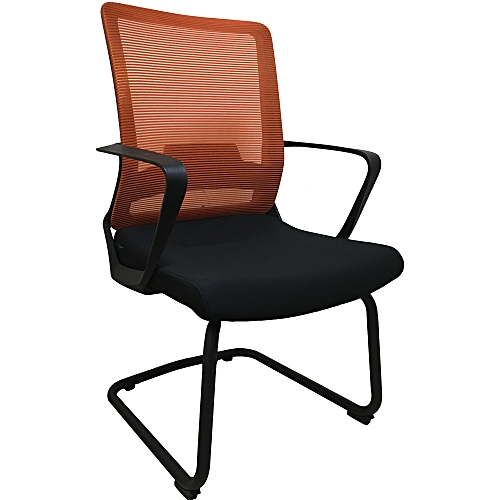 Ergonomic Office Visitor Chair With Mesh Back And Fabric Seat