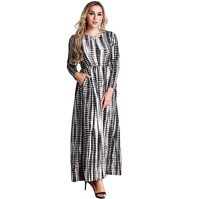 Buy Generic Casual Women Plus Size Stripe Printed Dress Big Size O