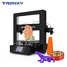 Tronxy Simple Assembly 3D Printer Kit with Touch Screen Building Size 220*220*210mm Resume Printing Support Single/Dual/Mixed Color Print Free Sample PLA Filament