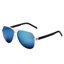 f02eb186726 VEITHDIA 3556 Fashion Driving Polarized Sunglasses for Men Aluminum Sliver  frame Blue lens XXZ-Z