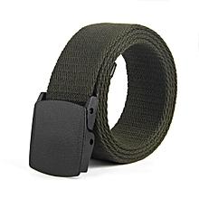 Woven canvas outdoor casual cotton belt(110CM)-ArmyGreen