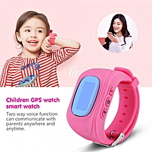 SOS Anti-Lost Watch Wristwatch GPS Locator Baby Safe Child Russian Pink