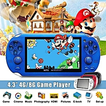 8GB 4.3 Inch Built In 2000 Games Portable Handheld Video Game Console Player US Blue
