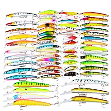 DWMI009 60-piece Set ABS Plastic Classic Fishing Lures Hard Bait - Colormix