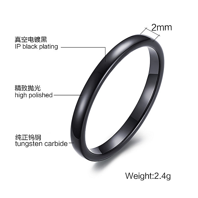 5ee5a7b8367 Small Simple Lady Ring 2MM Bare Tungsten Steel Ring Three Color Mixed Batch  TCR-042
